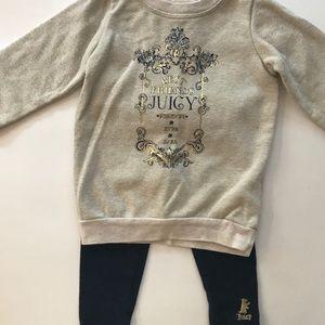 Juicy Couture 2pc sweatshirt and leggings 12-18 mo